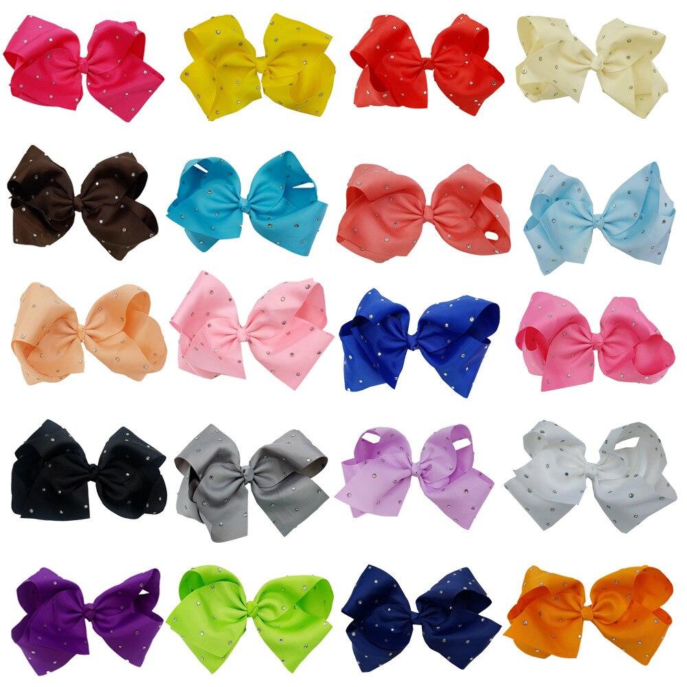 """Laest 20CM big twist bowknot clip para el cabello con diamante dot girl 8 """"bowknot grande 120 ps/lote accesorios para el cabello"""