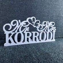 Signo de mesa de boda personalizado Mr & Mrs, signo de boda personalizado con apellido, Decoración de mesa, nombre, centro de mesa, decoración