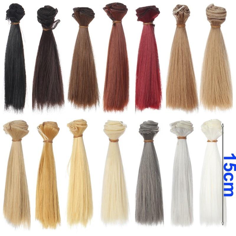 5cm 15cm 25cm preto ouro marrom caqui branco cinza cor curta reta boneca cabelo para testa franja boneca cabelos