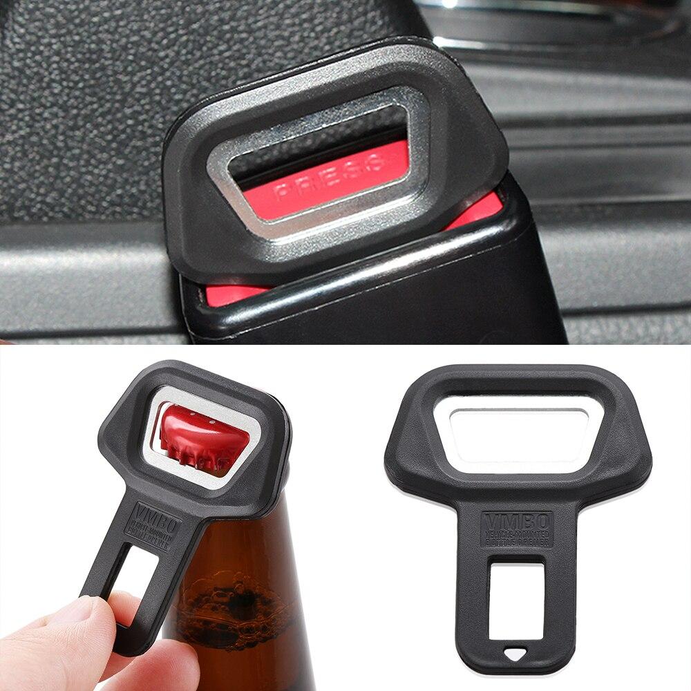 Auto Veiligheid Seat Belt Buckle Clip Auto Flesopener Voor Ford Focus 2 3 4 Edge Fusion Kuga Ecosport Fiesta falcon B C S-MAX