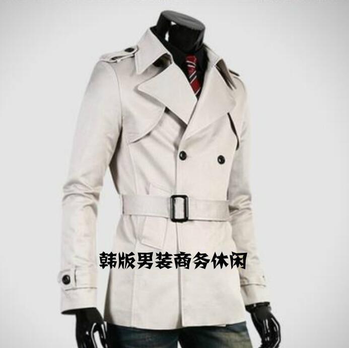 معطف واق من المطر على الطراز البريطاني للرجال, معطف ضيق ومثير على الطراز الإنجليزي لعام 2020 ، ملابس رجال الأعمال متوسطة الطول ملابس خارجية