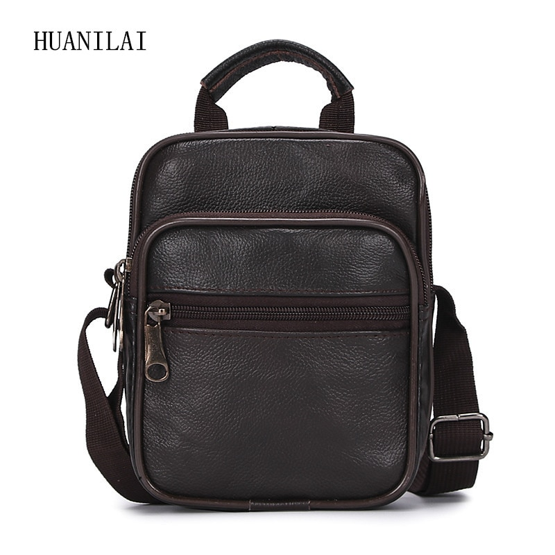 aetoo casual cowhide leather messenger bag small shoulder bag men mini bag genuine leather summer flaps phone bags HUANILAI  Genuine Leather Bags  Men Messenger Bag  Shoulder Bag  Small Crossbody Bags For Men Cowhide Handbags TY015