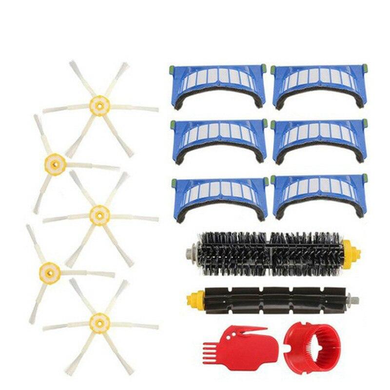 Neue AeroVac Filter Seite Pinsel Borsten und Flexible Beater Pinsel Combo für iRobot Roomba 600 610 620 625 630 650 660 zubehör