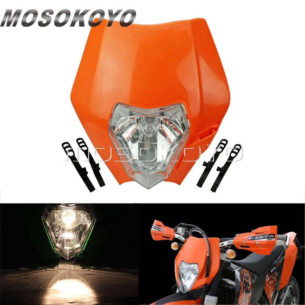 Orange Dirt Bikes Motocross Enduro MX Headlight Front Lamp for KTM 450 SX-F 250 SX 200 EXC XC-W XC-F 65 85 125 150 350