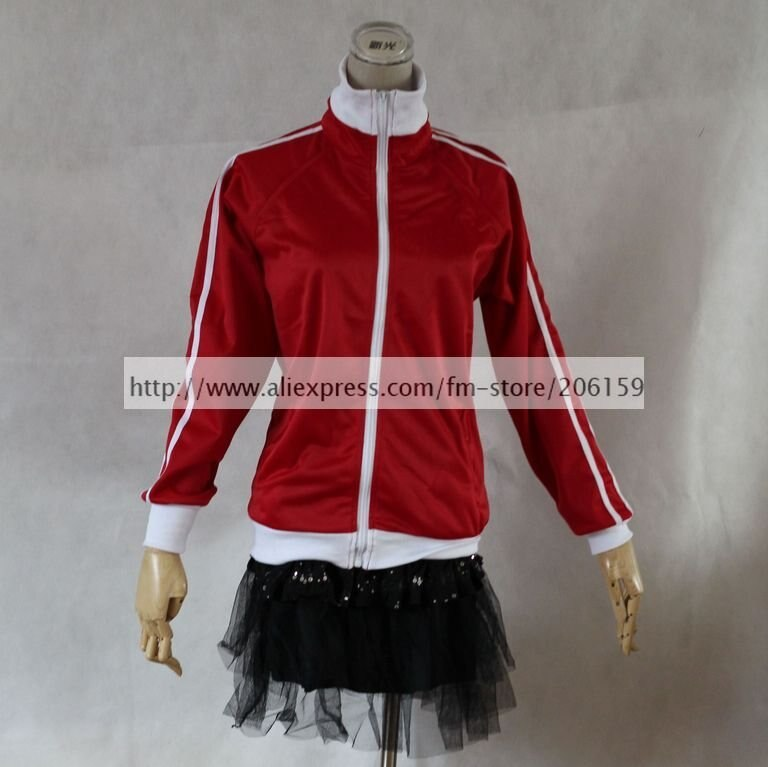 Disfraz de Cosplay de Vocaloid Matryoshka Meiko, chaqueta roja con guantes, chaqueta de mujer, abrigo rojo, prendas de vestir con capucha