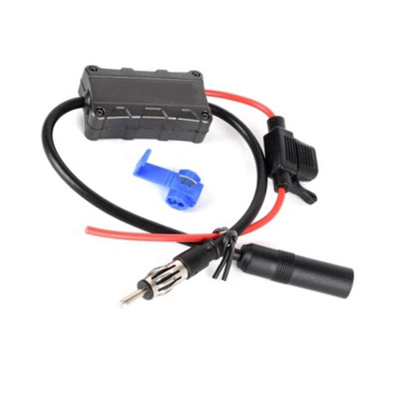 Amplificador de señal de antena estéreo 40CM Universal para coche FM Radio negro
