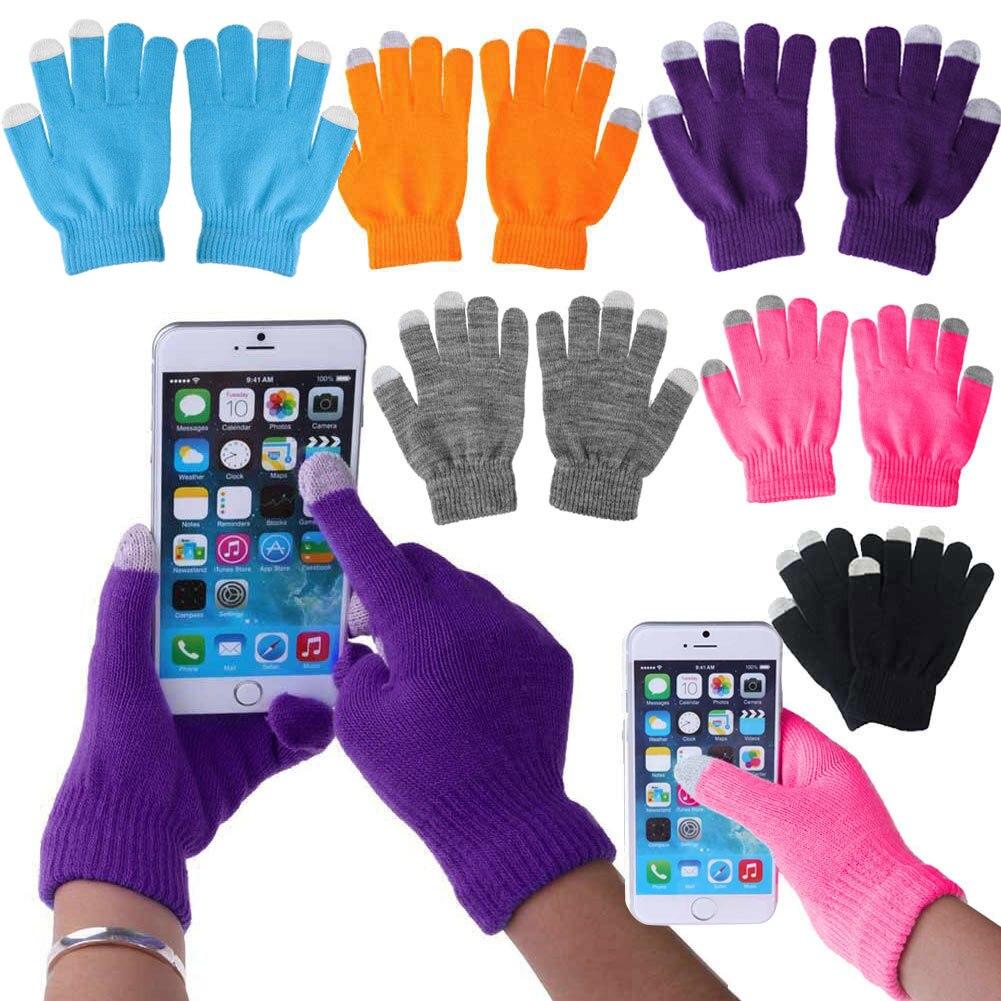 2019 multifunción 1 par Unisex invierno cálido guantes de punto capacitivos calentador de manos para pantalla táctil Smart Phone Luvas OH66
