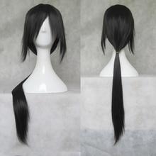 IHYAMS парики 80 см длинный синтетический карнавальный парик Skunks Aph черный наруто APH Yao Uchiha костюм Итати