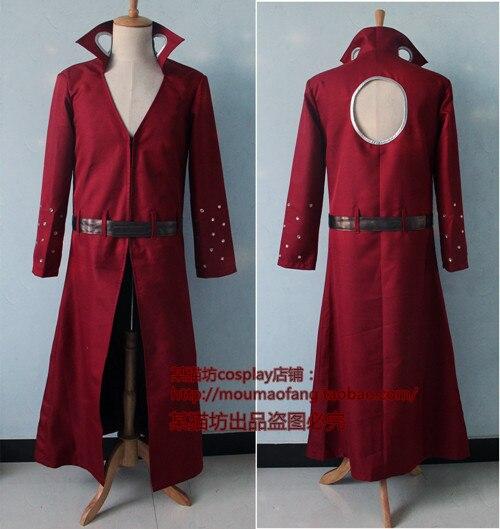 The Seven Deadly Sins Nanatsu no Taizai Ban Red Overcoat Cosplay Costume E001