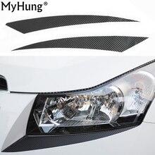 Автомобильные аксессуары, наклейки для бровей Chevrolet Cruze Sedan, хэтчбек с 2009 по 2013 г., наклейки из углеродного волокна для стайлинга автомобиля