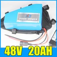 electric bike battery 48v 20ah Triangle lithium ion 48V bafang battery 1000W BBS02 BBS03 BBSHD motor 48V 750W battery