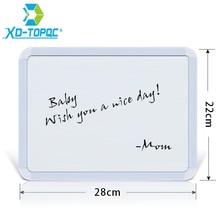 XINDI nouveau 22*28cm effaçable à sec tableau blanc Plastifc cadre blanc tableau daffichage sur réfrigérateur enfants Message tableaux à dessin WB02