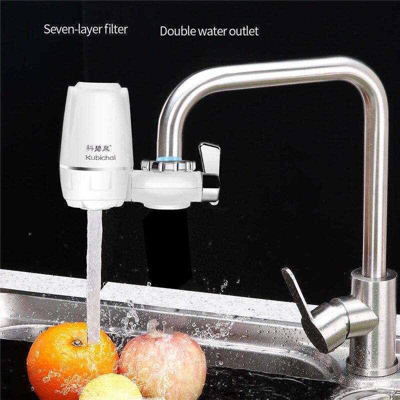 Домашний фильтр для водопроводного крана, кухонный фильтр для очистки воды, домашний очиститель воды с активированным углем, с 7-слойным фил...