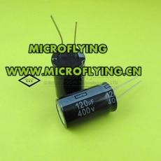 1 шт./лот алюминиевый электролитический конденсатор 120 мкФ 400 в 18*30 мм электролитический конденсатор ic