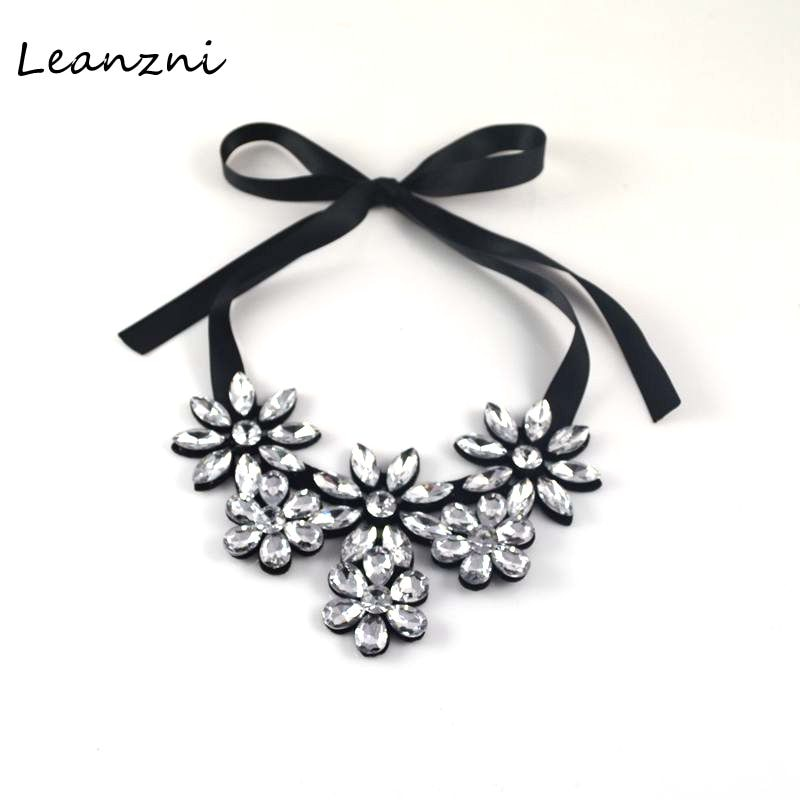 Leanzni   Fashion acrylic fittings & flannelette flower necklace jewelry dress woman present