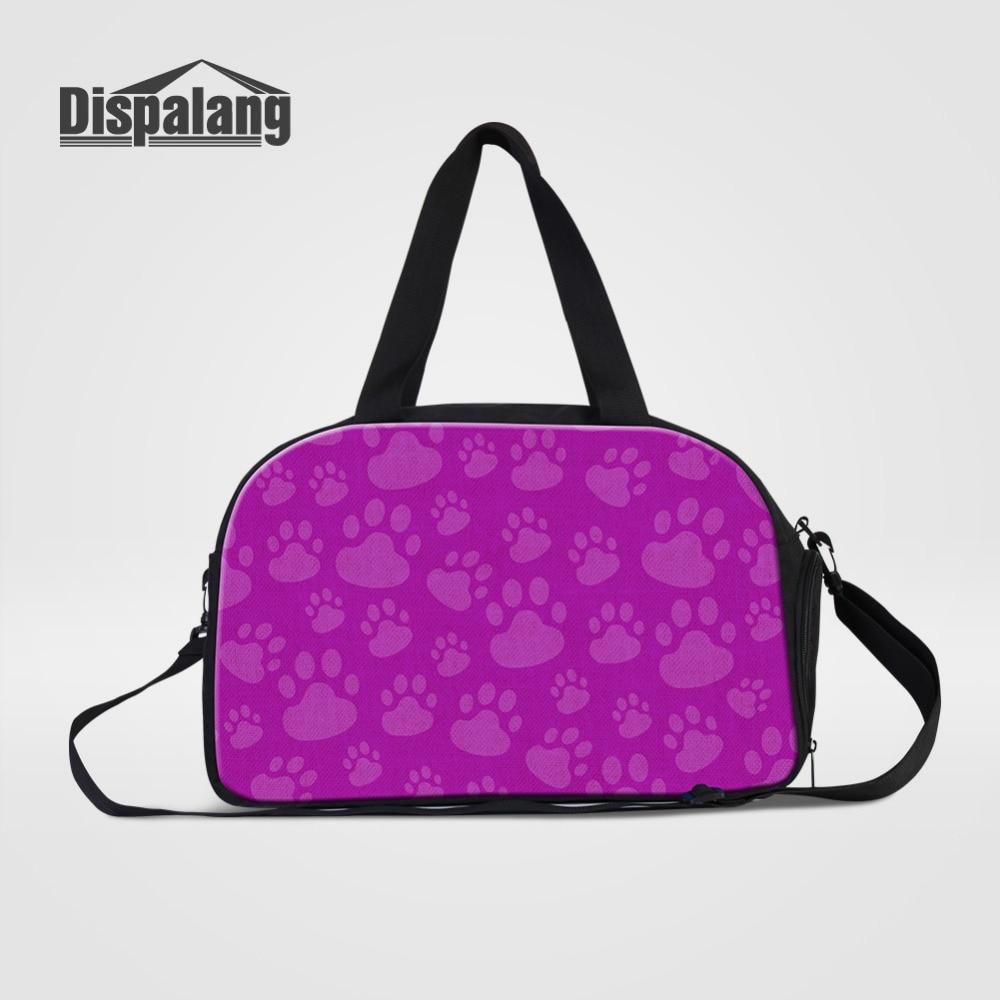 Bolso de viaje para mujer Dispalang, bolsa de mano multifuncional de gran capacidad, bolsa de equipaje con estampado de pata de gato, bolsas de viaje de negocios informales