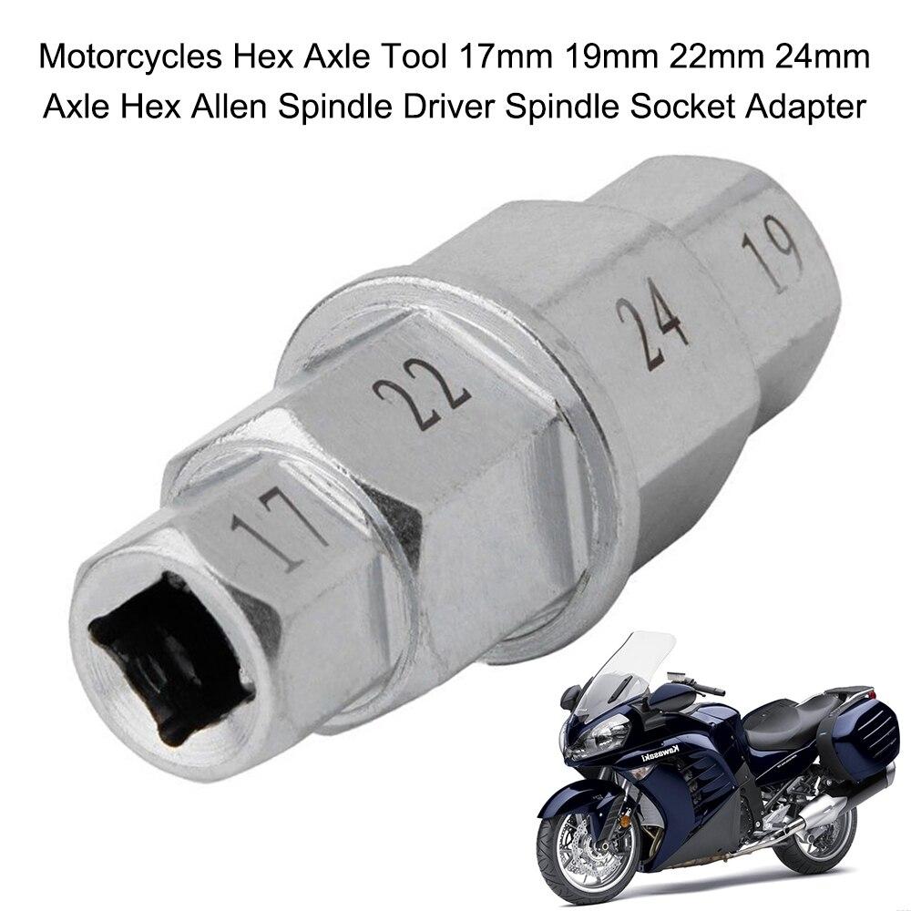 Мотоциклы Шестигранная ось инструмент 17 мм 19 мм 22 мм 24 мм ось шестигранный шпиндель драйвер шпиндель гнездо адаптера