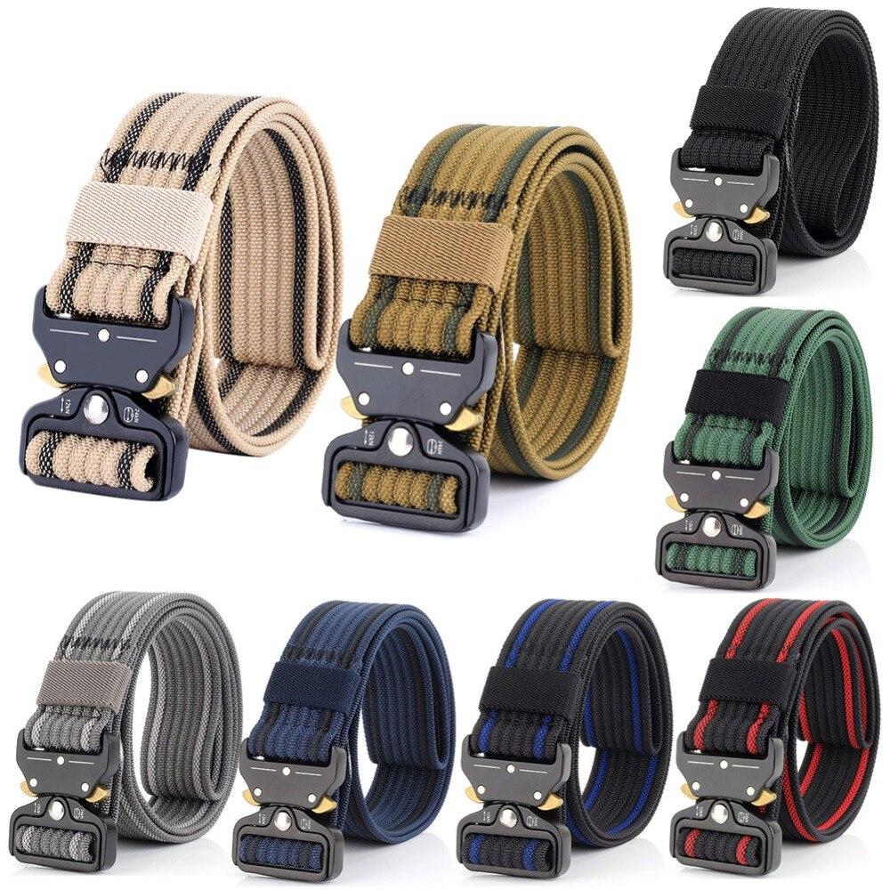 New Style Quick-releasing  Deduction Outside The Belt Tactical Nylon Belt Outdoor Training Belt Sport Belt