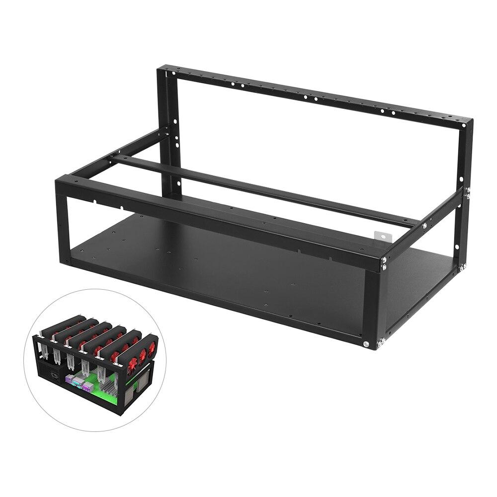 ATX корпус с рамкой для майнинга под открытым небом от 6 до 8 GPU BTC LTC ETH Специальный корпус для майнинга с HDD SSD лотки для горнодобывающей машины DIY пользователей