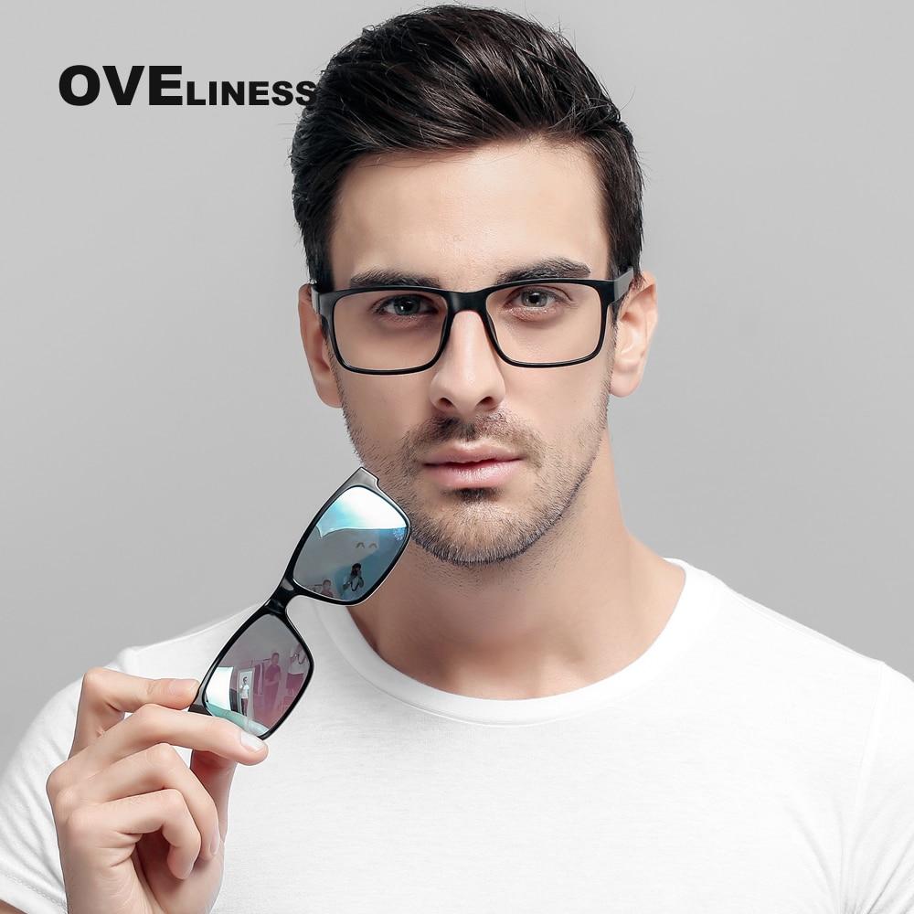 משקפיים מותג מעצב מקוטב מגנט קליפ משקפיים מסגרת גברים נשים קוצר ראיה מרשם משקפיים אופטיים משקפי שמש Eyewear