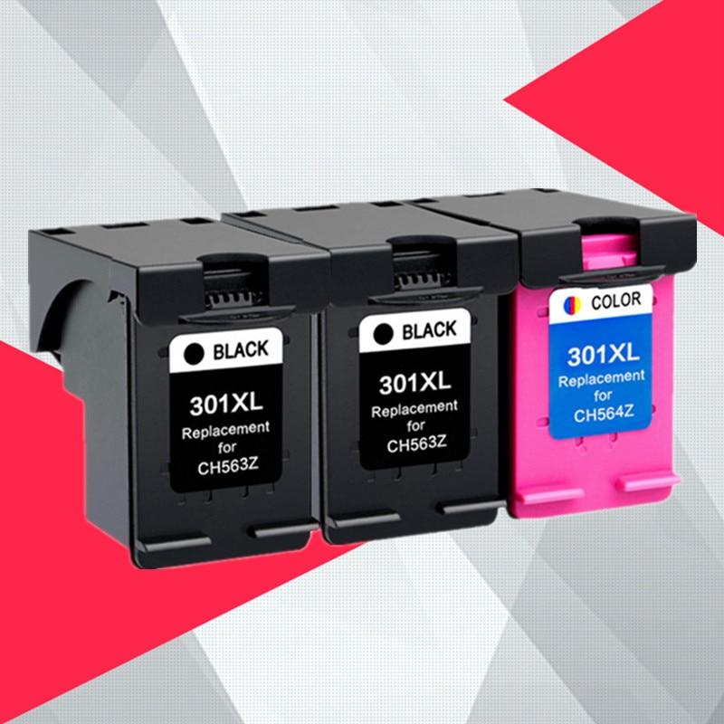 3PK Compatible 301XL cartucho de tinta hp 301 XL para hp 301 DeskJet serie 1050, 2050, 3050, 2150, 3150, 1010, 1510, 2540 impresora