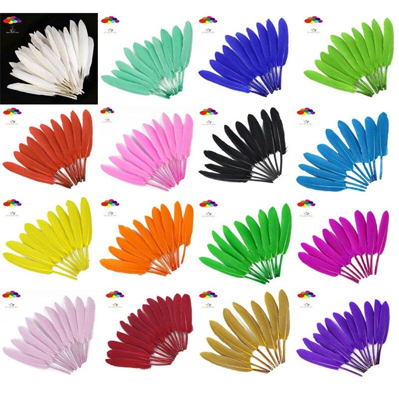 Cores de Penas de Ganso Natural 4 17-6 Polegada/10-15 centímetros 100 pcs DIY penas de Carnaval para traje headress máscara Artesanato em casa