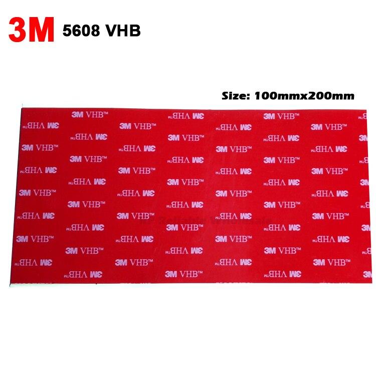 """Cinta adhesiva de espuma acrílica de doble cara 3M VHB 5608, 10 hojas (4 """"x 8""""), cinta de montaje para auto, gris 20cm * 10cm * 0,8mm de espesor"""