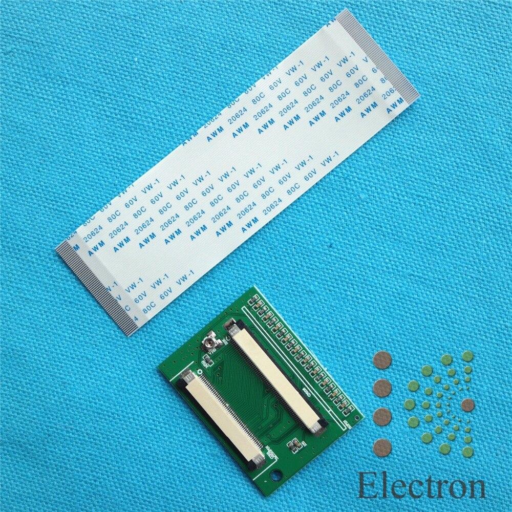 60 Pin a 50 Pin ZIF 0,5mm TTL conector adaptador para HSD070IDW1 HSD080IDW1 LCD
