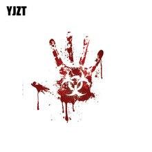 YJZT 12.2CM * 15CM sanglante impression à la main Biohazard Zombie voiture autocollant drôle décalcomanie PVC 12-0707