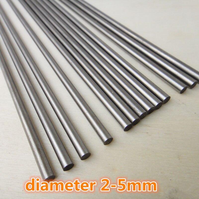 1pc J300 DIY Model Car Shaft Diameter 2-5mm Length 200/250mm High Hardness Steel Axle Free Shipping Russia