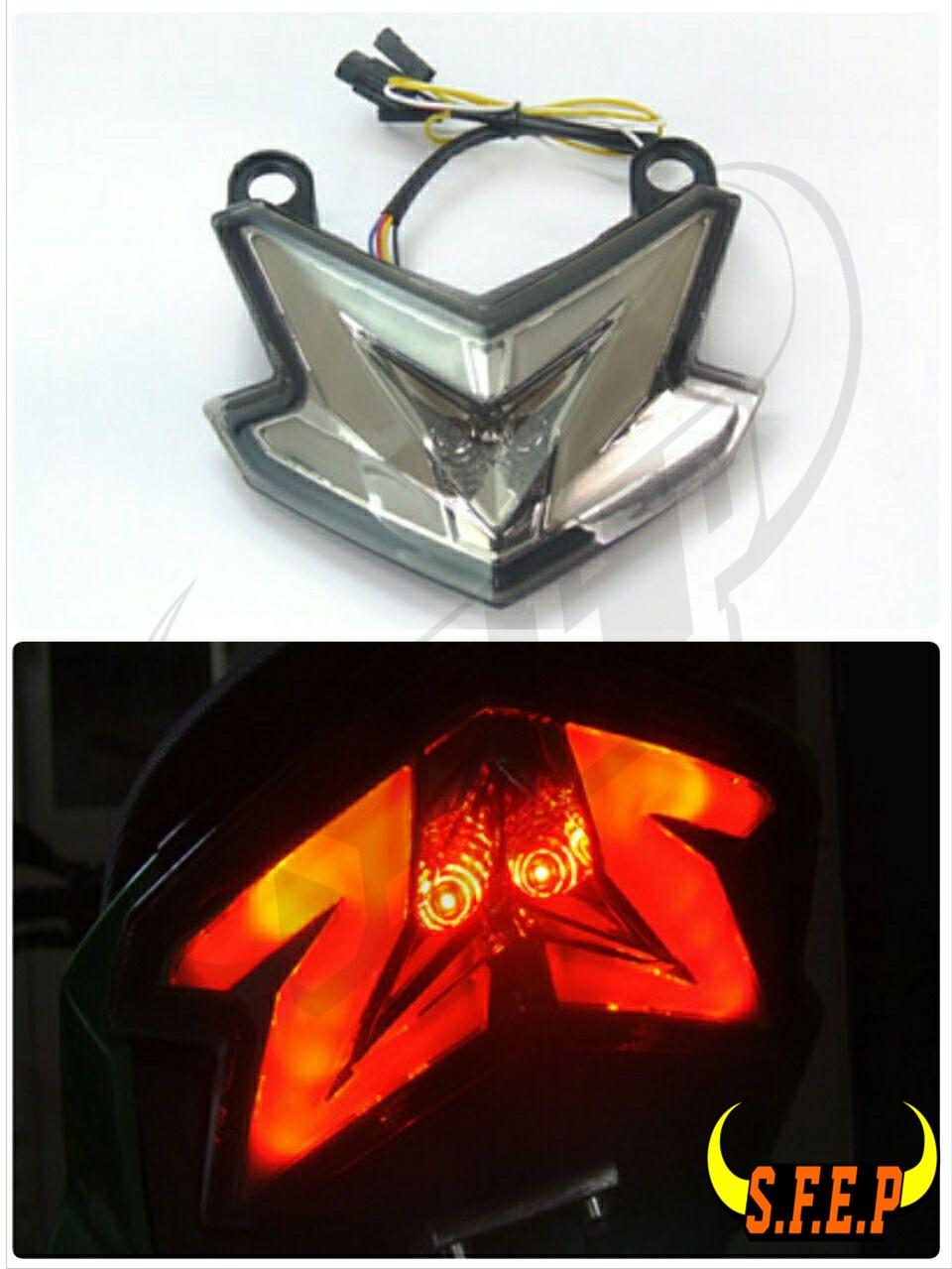 LED Motorcycle Rear Integrated Tail Light Brake Turn Signals Smoke For Kawasaki Z800 ZX6R/636 2013-2016
