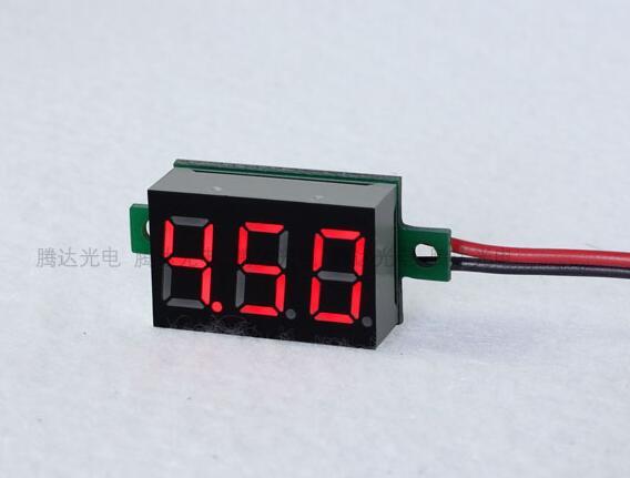 Профессиональный Цифровой вольтметр с ЖК-дисплеем 4,5-30 в, 100 шт., 0,36 дюйма, красный светодиодный вольтметр, измеритель напряжения постоянного...