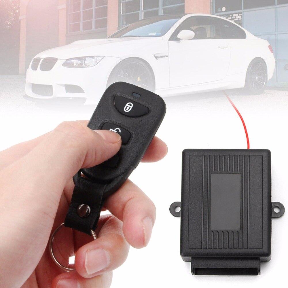 Universal 1 Satz Auto Auto Türschloss Fahrzeugschlüsselloses Zugangssystem Fernbedienung Zentralverriegelung Kit w/Schaltkasten Warnung Alarm System