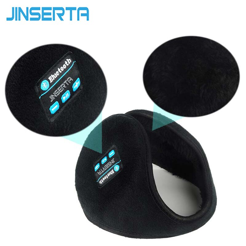 JINSERTA Wireless Bluetooth Headset Headphones Speaker Music Warm Earmuff for iphone Samsung Smartphones mp3 mp4 for Man boys