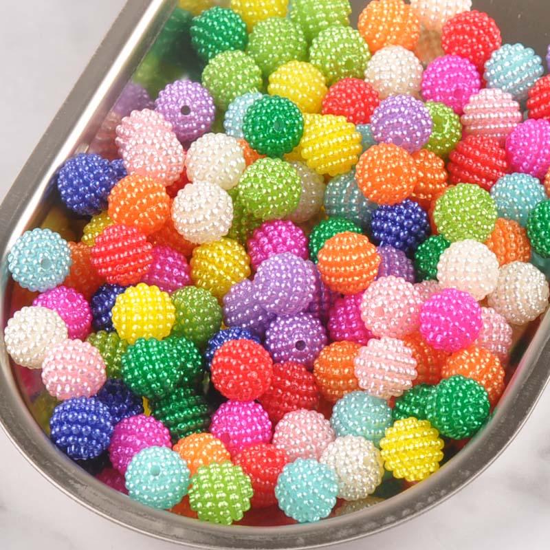 20/10 stücke über 10/14mm Mischung Farbe Imitation Perle Perlen Runde Perlen Fit Europa Perlen Schmuck machen YKL0393Xx
