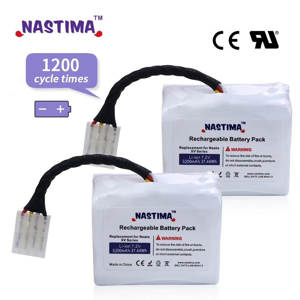 Actualización de 7,2 V 5200mAh Li-Ion batería para Neato batería XV XV11 XV12 XV14 XV15 XV21 XV25 esencial XV Pro Aspiradora Robótica
