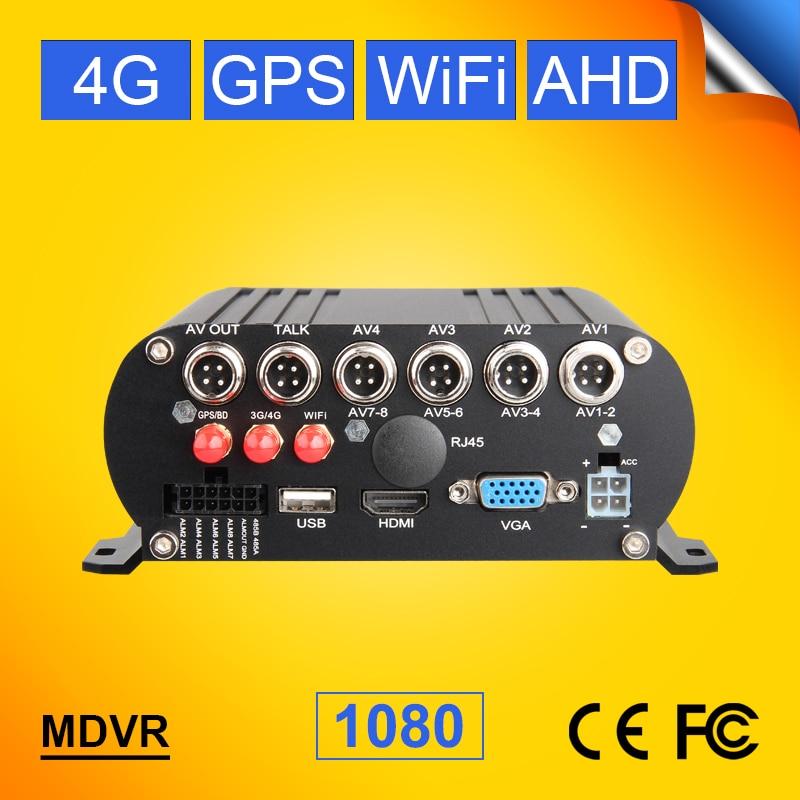 4CH 4G لتحديد المواقع مع H.264 AHD حافلة/شاحنة نظام GPS مزود بمسجل فيديو رقمي المحمول تعقب 4G Lte شبكة في الوقت الحقيقي مراقبة الفيديو مسجل السيارة I/O ال...
