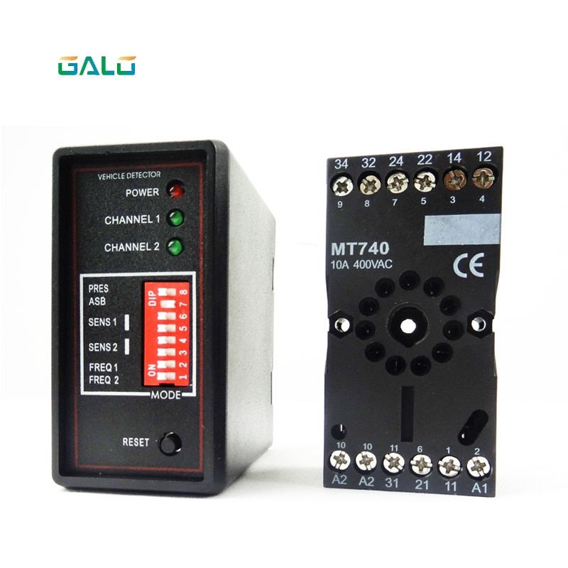 Gate vehicle access control dual two Channel Loop Detector/Inductive Loop Parking Detectors220v 110V 24V DC 12V Dc