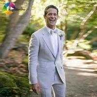 custom made grey men suits wedding slim fit groom tuxedo groomsmen man blazer masculino 2piece jacket pants costume homme ternos