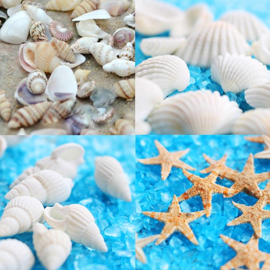 40 шт Мини 1 см морская Морская звезда бусины смешанные размеры ювелирных изделий стеклянная подвеска из стеклянного флакона Глобус наполнитель