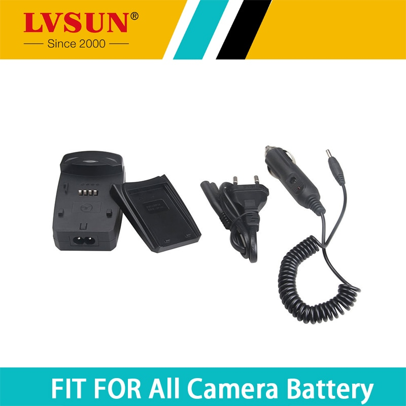 LVSUN NP110 NP-110 cargador de batería Universal con adaptador de coche USB puerto para CASIO EX Z2200 Z2300 ZR20 EX-Z2200 Z3000 ZR10 ZR15
