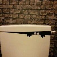 Autocollant mural en vinyle  1 piece  etiquette decorative amovible  drole  pour toilettes  salle de bain  Art  DIY bricolage
