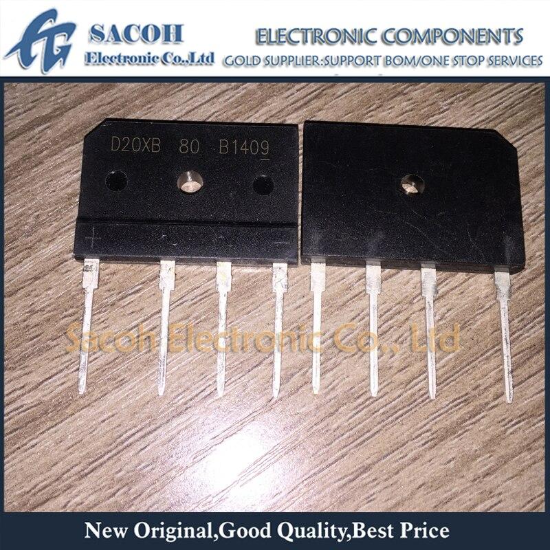Envío Gratis 5 uds D20XB60 D20SB60 D20XB80 D20SB80 DIP-4 25A 600 V/800 V rectificadores en puente