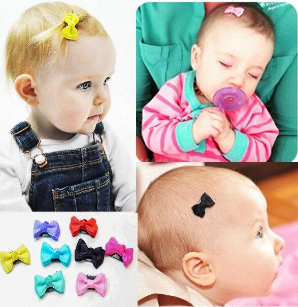 5 unids/lote de Mini pinzas de pelo de color caramelo con lazo pequeño pasadores de pelo de seguridad para niños niñas accesorios para el cabello