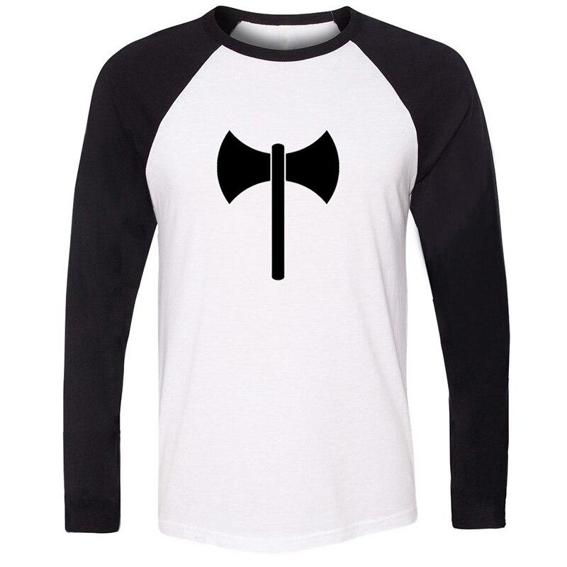 Capricornio cáncer Aquarius 12 constelación Punk doble hacha Tomahawk diseño de arte hombres impresión gráfica Camiseta de manga larga de algodón