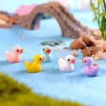 10pcs/bag Cute Mini Ducks Super Light Clay Slime Supplies Cream Glue Playdough Tools DIY Resin Pendant Craft Decoration Material