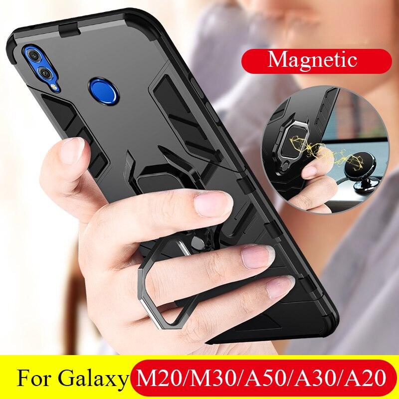 Para Samsung Galaxy M30 M20 funda magnética para coche a prueba de golpes funda de teléfono para Samsung A50 A30 A20