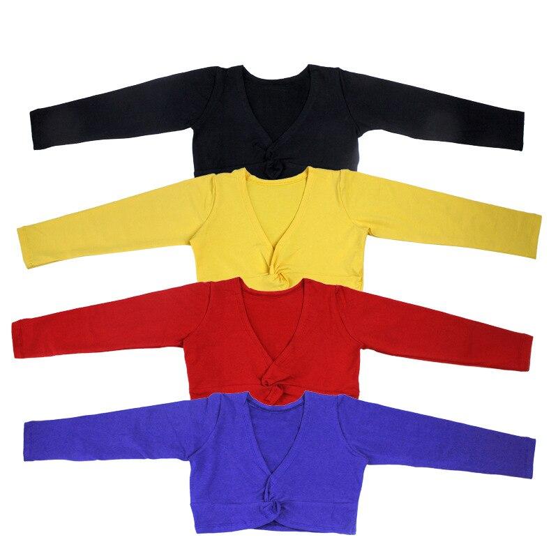 girl baby clothing girls ballet sweater Kids gymnastics leotard long sleeve Jacket Wrap Sweater Top