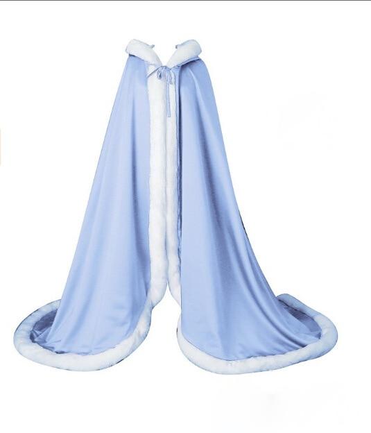 PJ7777-فستان زفاف عصري ، شال ، قبعة عالية ، معطف شتوي دافئ ، شال من الصوف ، فرو صناعي