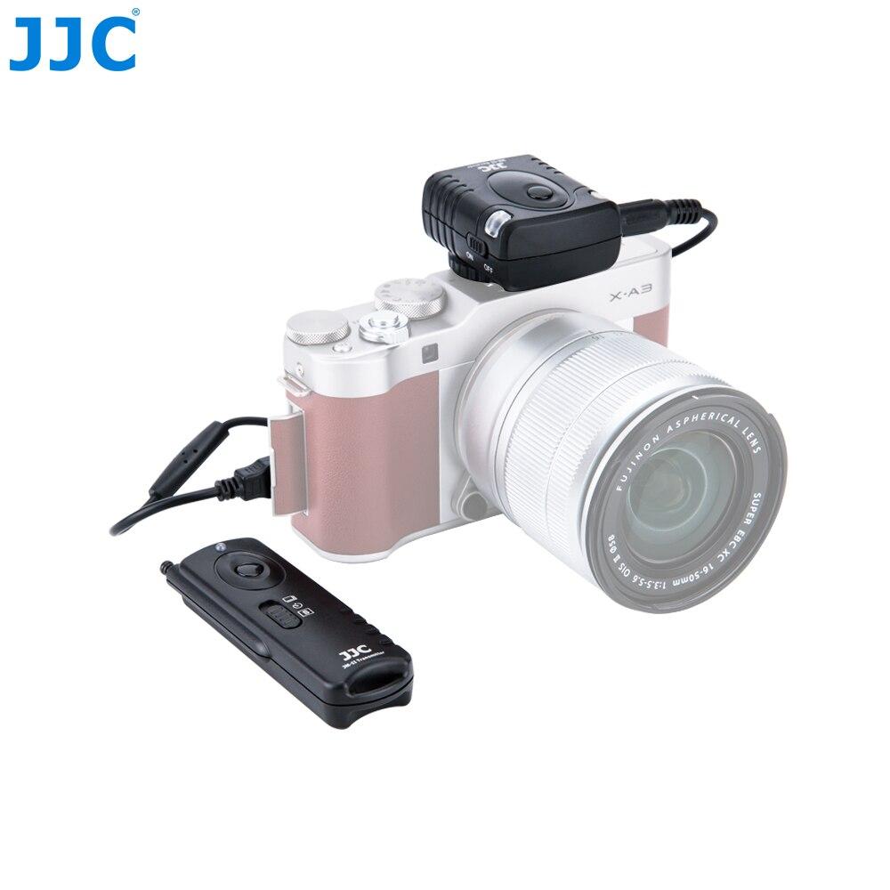 Jjc câmera 30 metros de distância controlador 433 mhz 16 canais rádio rf controle remoto sem fio para fujifilm X-T20/X-T10/X-Pro2/x70